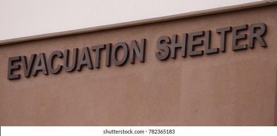 EVACUATION SHELTER ON SIDE OF BUILDING