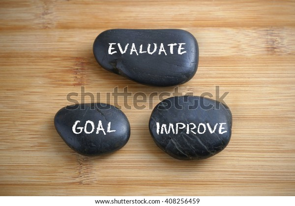Evaluate Goal Improve Self Improvement Concept Stock Photo
