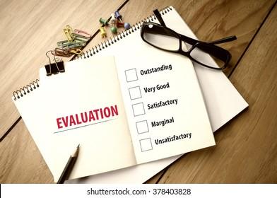 Evaluation Checklist on Notebook