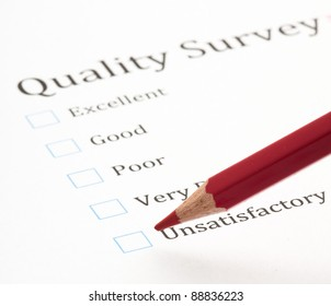 evaluation test cross and pencil, closeup photo