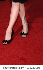 Evan Rachel Wood's shoes  at the 2008 AFI Fest Centerpiece Gala Screening of 'The Wrestler'. Grauman's Chinese Theatre, Hollywood, CA. 11-06-08