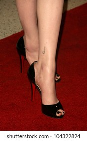 Evan Rachel Wood's shoes  at the Los Angeles Premiere of 'Whatever Works'. Pacific Design Center, West Hollywood, CA. 06-08-09