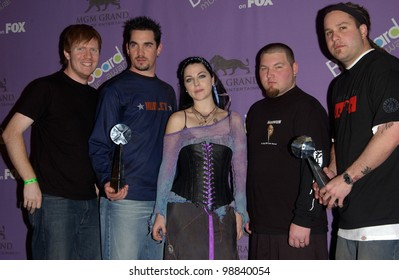 EVANESCENCE at the 2003 Billboard Music Awards at the MGM Grand, Las Vegas.  December 10, 2003  Paul Smith / Featureflash