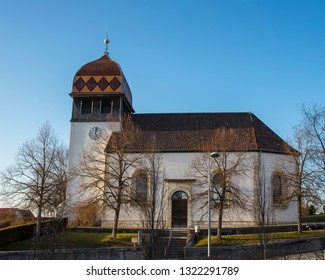 Evangelic church of Etupes in Doubs department, France.
