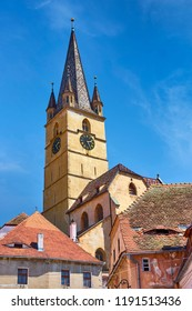 Evangelical Cathedral Tower, Sibiu old town, Romania