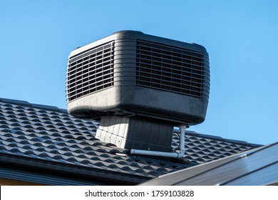 Evaporative Cooler Installed on Roof