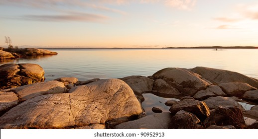 Evening at the archipelago in Sweden.