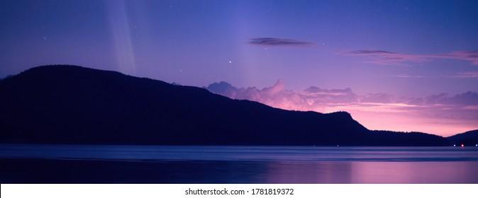 Evening Auroras in North Puget Sound