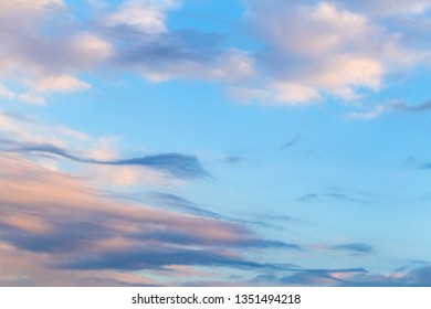 Evening beauty cloudy sky background