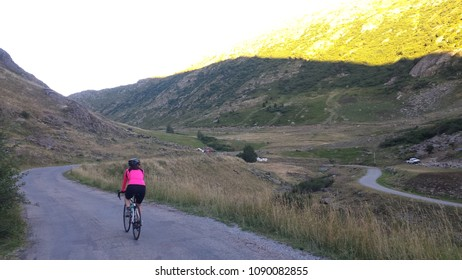 Evening bike ride to Col de Sarenne, Alpe D'Huez, French Alps