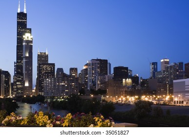 Evening in Chicago - seen from south side