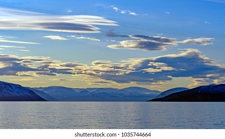 Evening Clouds in the High Arctic on Isabella Bay on Baffin Island in Nunavut, Canada