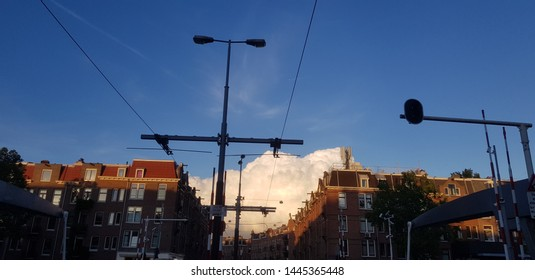 Evening clouds over the city