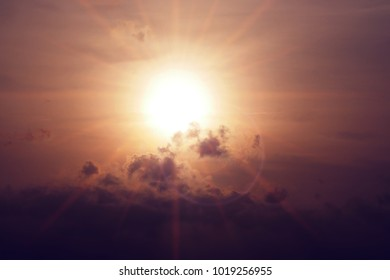 evening cloudy sunset