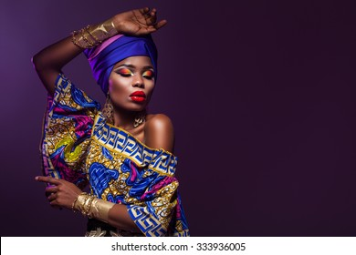 evening dress African woman