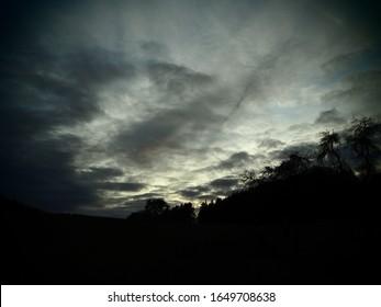 An evening in the Eifel with an impressiv sky