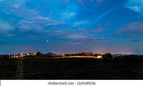 Evening in the fields of Rosazzo, Friuli, Italy during an hot summer