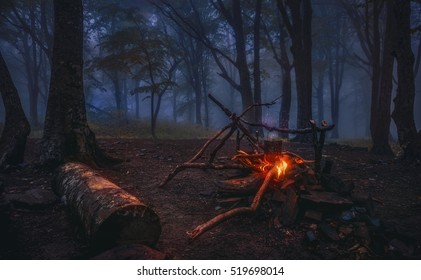 Evening gatherings around the campfire , relax