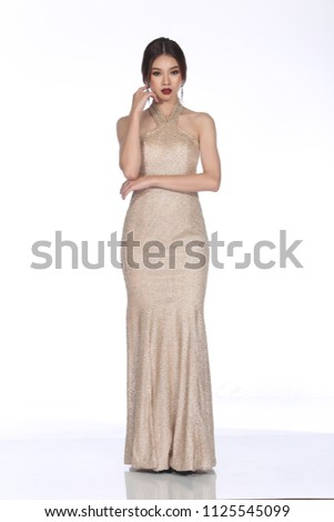 Evening Gown Ball Dress Asian Beautiful Stock Photo Edit Now