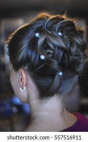 Evening hairstyle girl