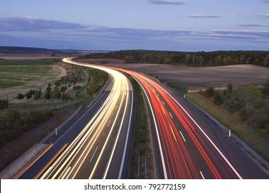 evening highway, night highway