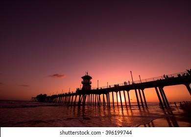 An evening in Huntington Beach, CA