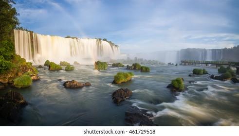 Evening at the Iguazu Falls, Brazilian side