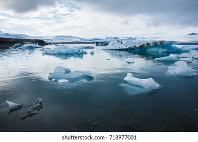 Evening at Jokulsarlon glacier lagoon, Iceland