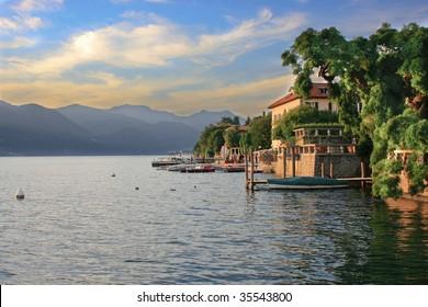 evening at the lago di orta
