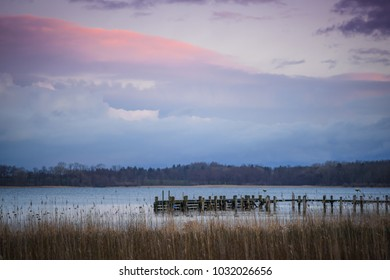 Evening at Lake Chiemsee. Prien am Chiemsee. Bavaria. Germany