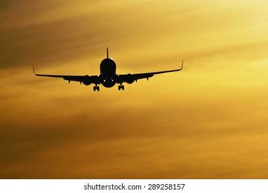 Evening landing