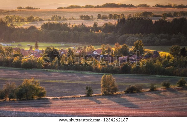 Evening landscape in the Liptov region, Slovakia