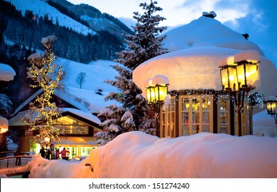 Evening landscape in Saalbach - Austria