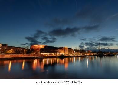 Evening in Liepaja, Latvia.