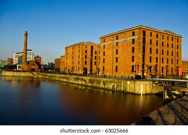 Evening Light at Albert Dock, Liverpool, England