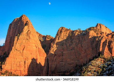 Evening light in Kolob Canyon, Zion, Utah, USA.