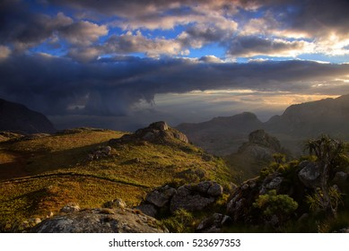Evening light in the Mulaje mountains in Malawi