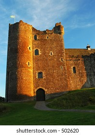 Evening light on 14th Century Doune Castle,Scotland. ( Doune castle is famous for being in film The Monty Python and the Holy Grail.)