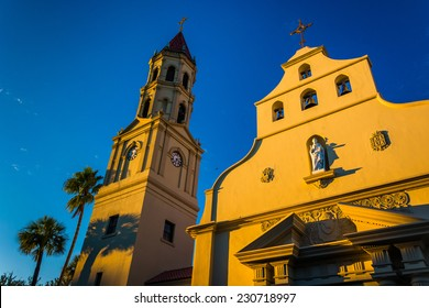 Evening light on the Cathedral Basilica in St. Augustine, Florida.