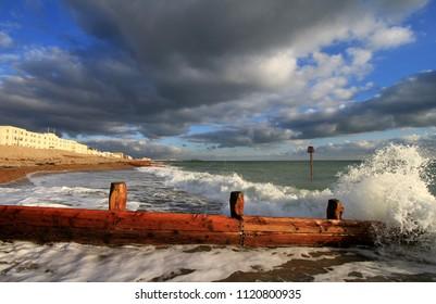 Evening Light on Worthing Beach, Sussex, UK