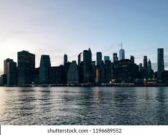 Evening in Manhattan, NYC