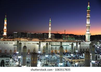 Evening at Masjid Nabavi, Madinah - Saudi Arabia