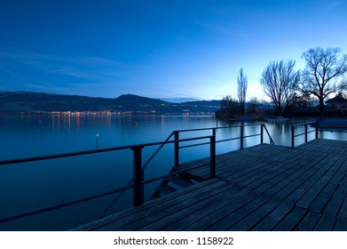 Evening mood at lake Zurich
