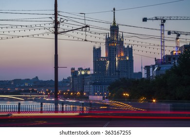 Evening Moscow streets