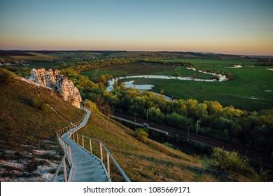 Evening in Museum-Reserve Divnogorye, Voronezh Region, Russia.