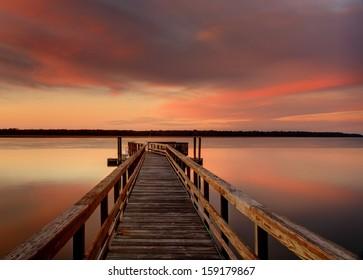 An evening on the Colleton River tidal estuary.