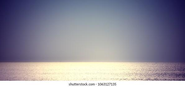 evening open sea