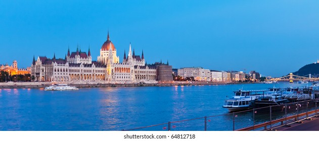 Evening panorama of Budapest, Hungary