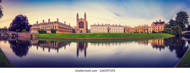 Evening panorama of Cambridge, UK