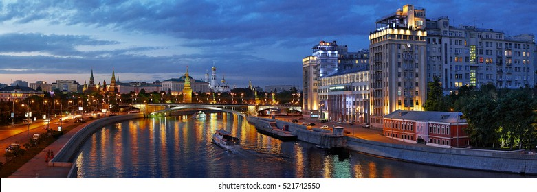 Evening panorama of Moscow